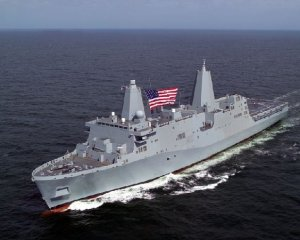 "US warship built from 9/11 ""scrap"""