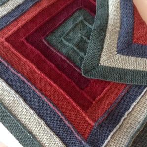 Ten-stitch baby blankets, using Frankie Brown's pattern (Ravelry).